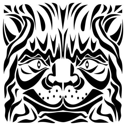 Ornamental katt huvud vektor illustration