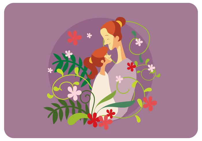 Muttertags-Illustrations-Vektor