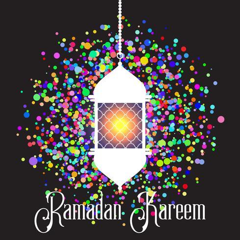 Colourful Ramadan Kareem background vector