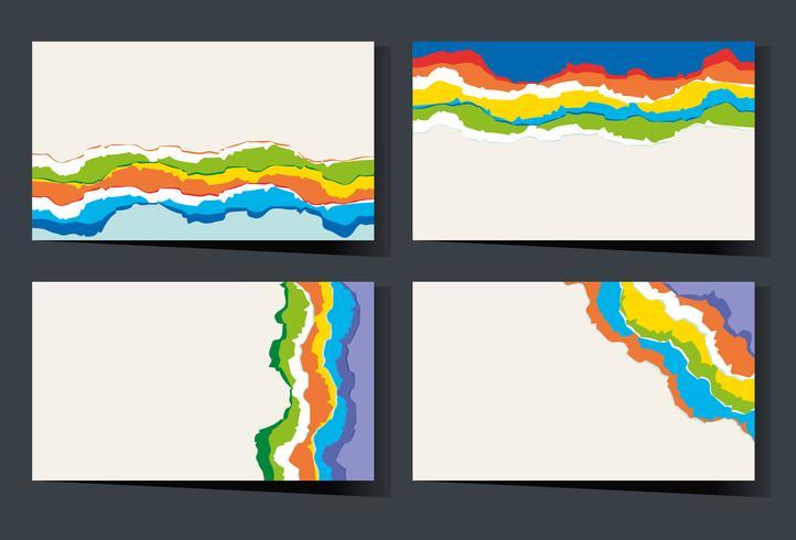 Plantilla de tarjeta de visita con garabatos de arco iris