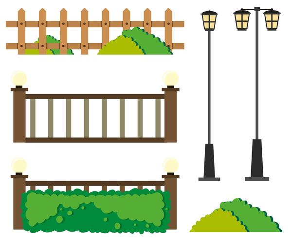 Fences and lamp posts