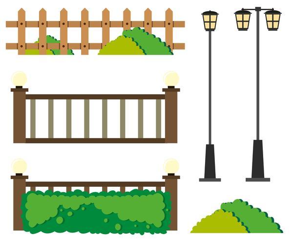 Zäune und Laternenpfähle