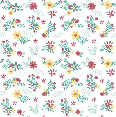 patrón de flor colorida primavera inconsútil