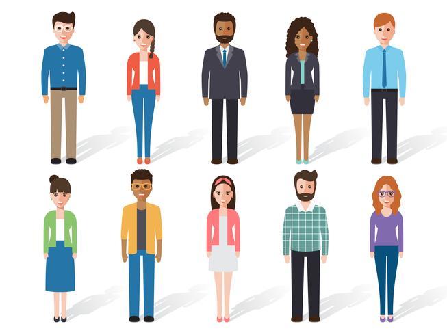 Personajes de personas vector