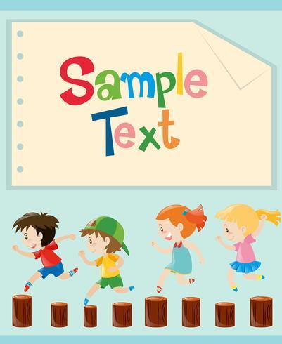 Ontwerp van papier met kinderen lopen