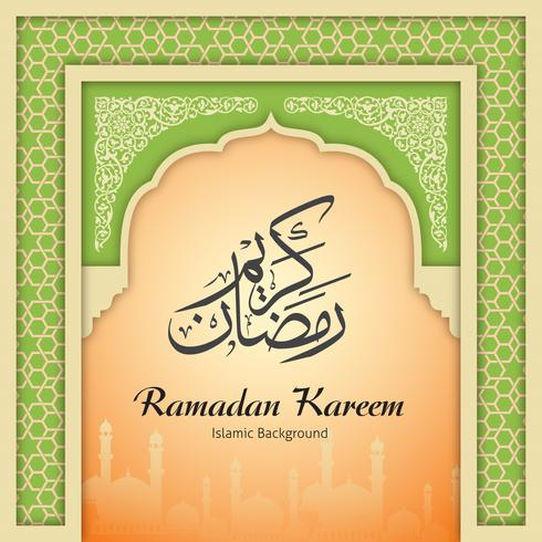 Ramadan Kareem Greeting Background Islamitische boog