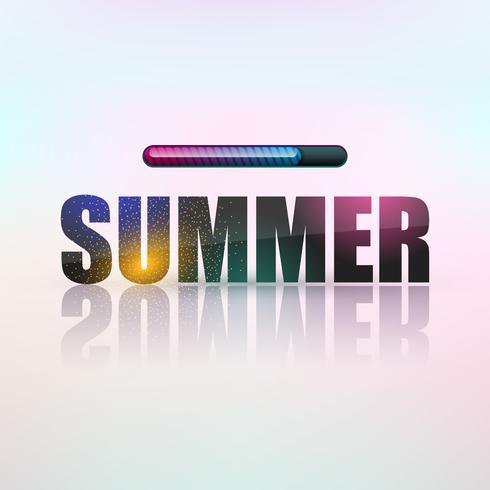 Ilustração do verão do vetor com carga do sinal. Inscrição de néon sobre um fundo claro