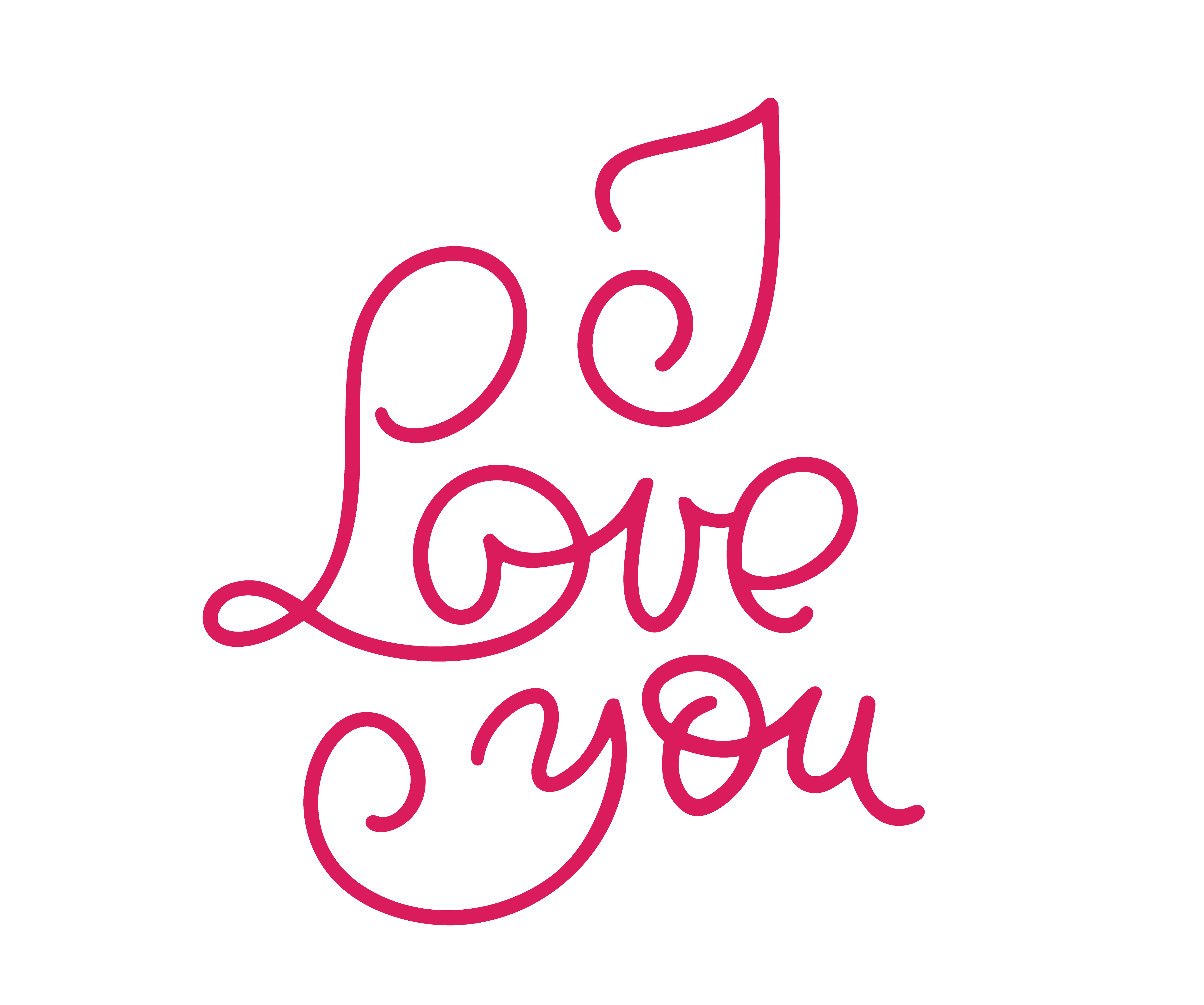Download I love you monoline calligraphy. Valentines day ...