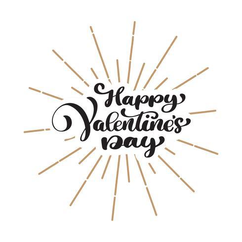 Glückliches Valentinstag Typografie Poster