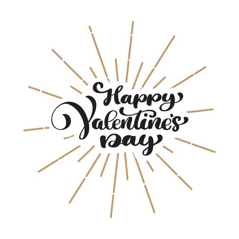 Happy Valentines Day typography poster vector