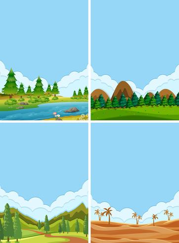 Un conjunto de hermosos paisajes.