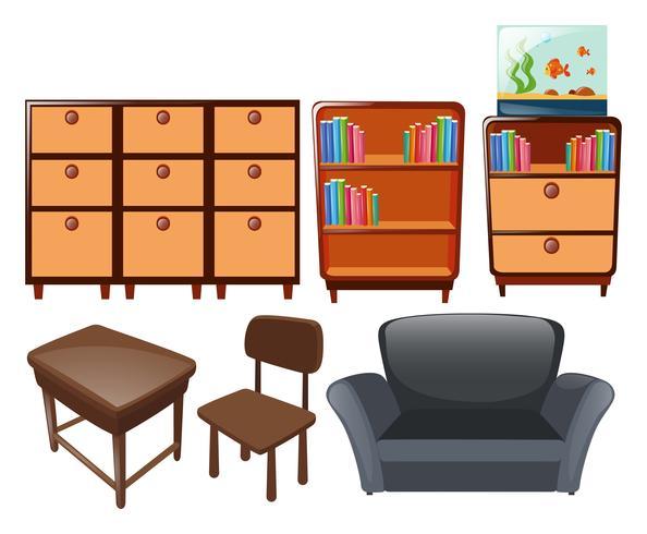 Verschiedene Arten von Möbeln