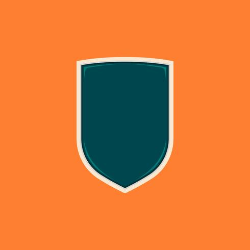 Plantilla simple en blanco de la forma de la insignia del escudo básico