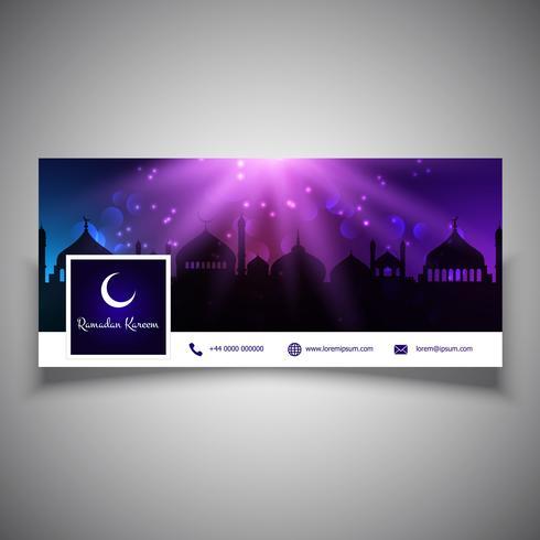 Ramadan Kareem Social Media-Header-Design vektor