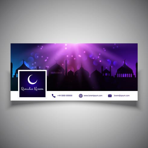 Ramadan Kareem social media header-ontwerp vector