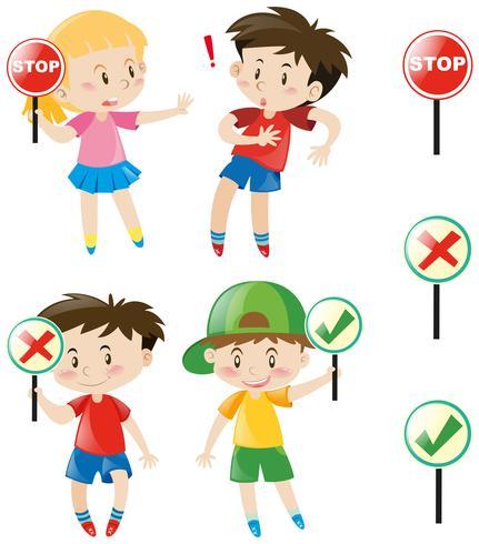 Bambini con segni diversi