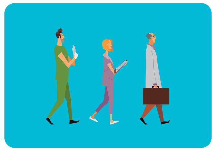 Gezondheidszorg tekens lopen Vector