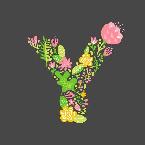 Blomstrande sommar Letter Y