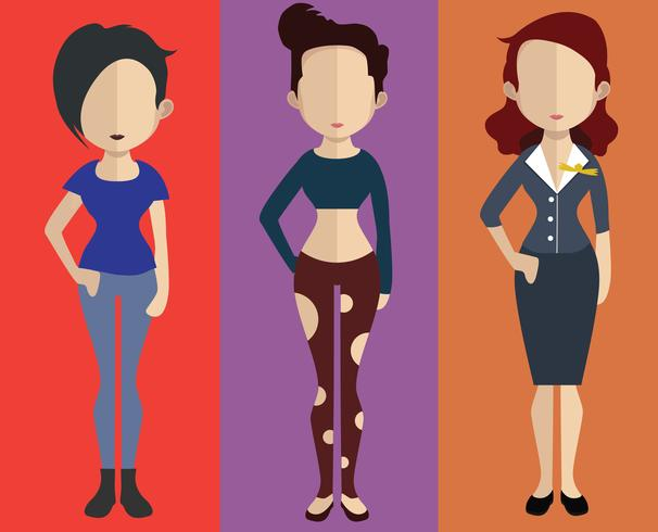 Personer avatar med full kropp och torso variationer