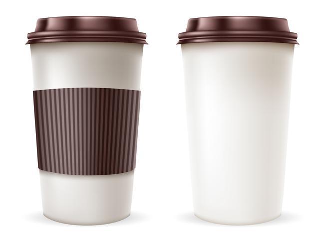 Papieren koffiekopje vector