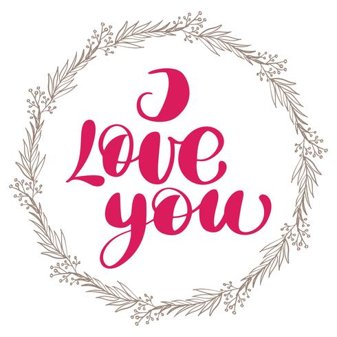 I love you with wreath
