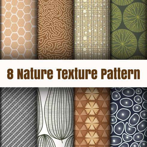 Nature pattern wallpaper vector background