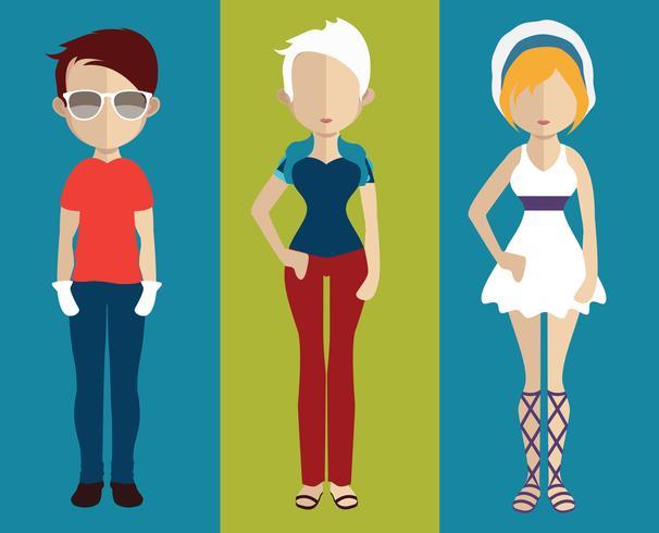 Avatar de personas con variaciones de cuerpo y torso. vector