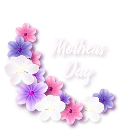 Ilustración para el día de la madre con delicadas flores.