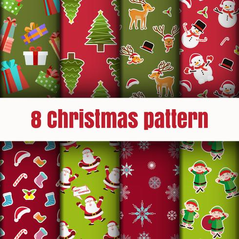 Colorful Christmas pattern wallpaper background vector
