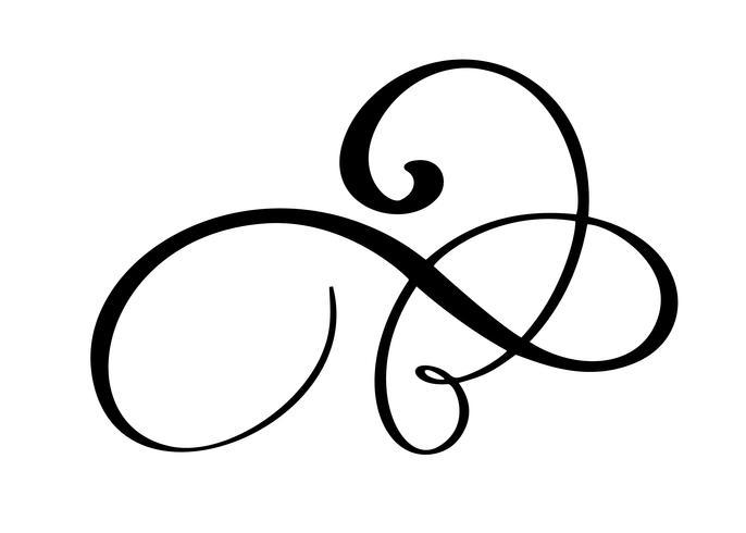 Dibujados a mano florecen elementos de caligrafía. Ilustración vectorial vector