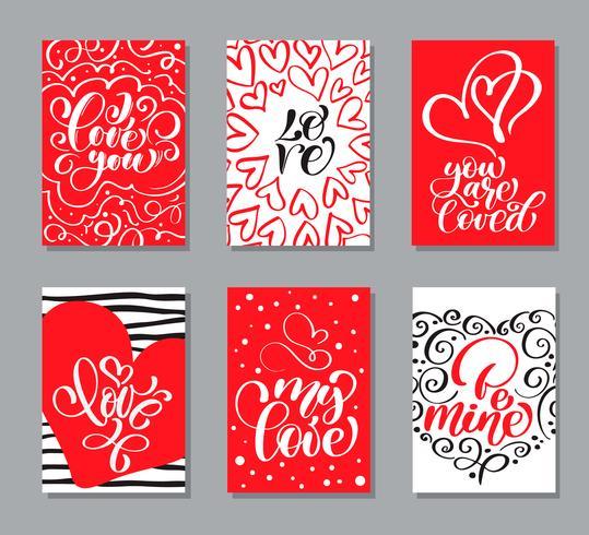 Vector plantillas de tarjetas del día de San Valentín