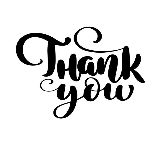 Thank you Hand drawn text vector