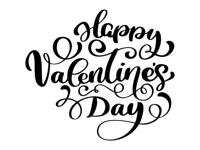 Cartel de tipografía de feliz día de San Valentín vector