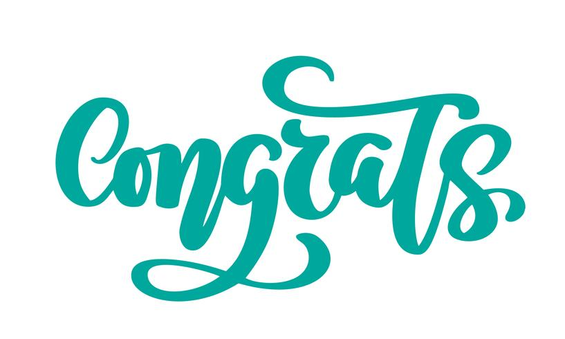 Congrats Hand drawn text phrase vector