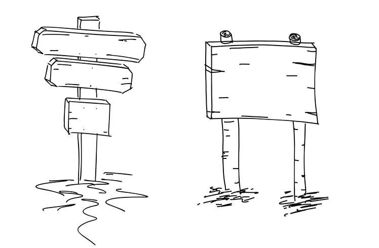 Double arrows. Hand drawn sketch. Vector illustration