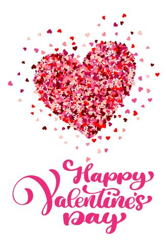 Buon San Valentino calligrafico con cuore