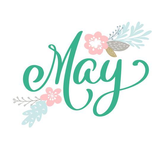 Bosquejado a mano hola mayo