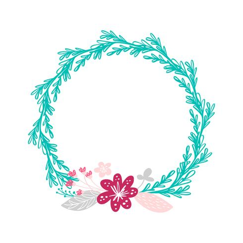 fiori bouquet di ghirlanda floreale