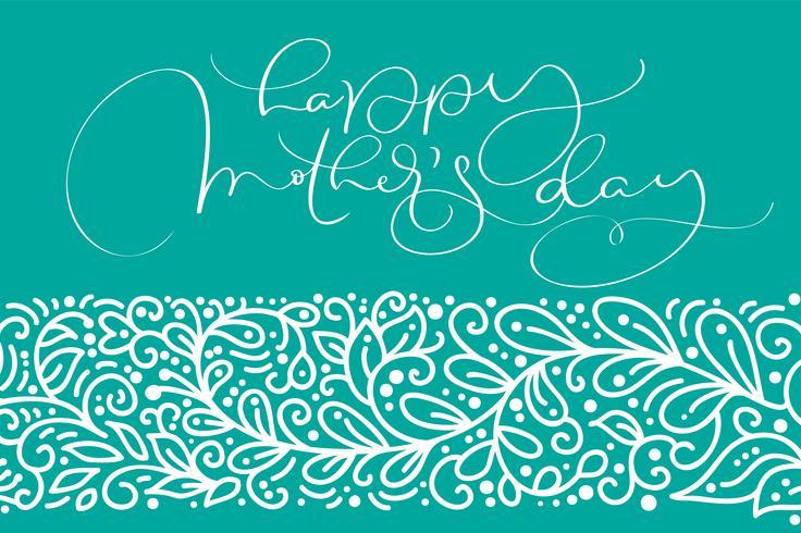 Vettore felice della cartolina d'auguri di festa della Mamma
