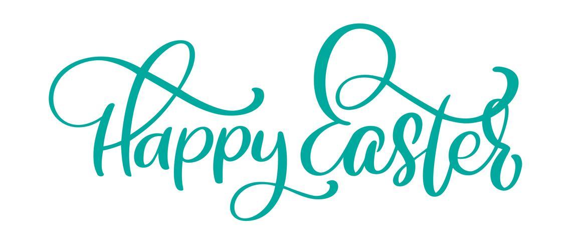 Übergeben Sie gezogene glückliche Ostern-Kalligraphie- und Bürstenstiftbeschriftung. Vector Illustrationsdesign für Feiertagsgrußkarte und für Fotoüberlagerungen, T-Shirt Druck, Flieger, Plakatdesign