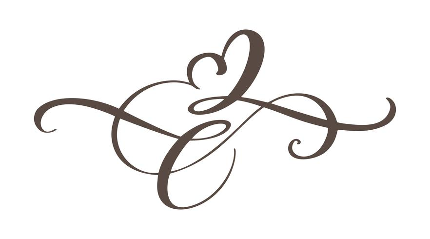 Corazón amor signo para siempre. Símbolo infinito romántico vinculado, unirse, pasión y boda. Plantilla para la camiseta, tarjeta, cartel. Diseño de elemento plano de día de san valentín. Ilustración vectorial vector