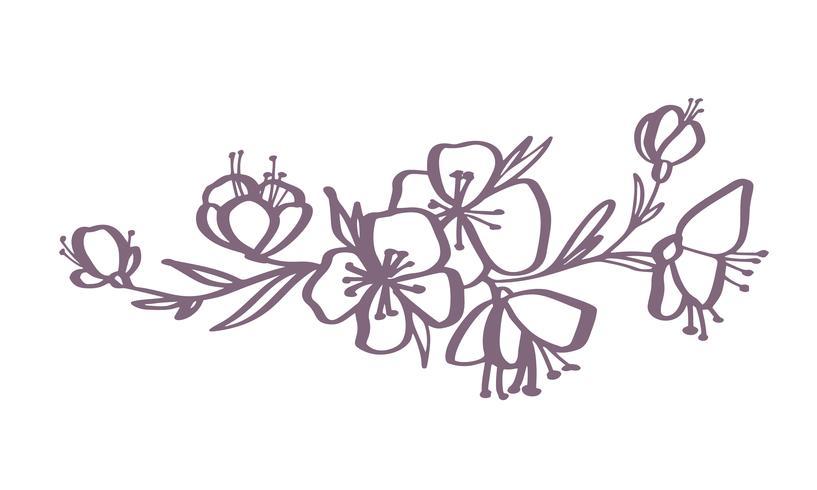Modern Flower Art Drawing
