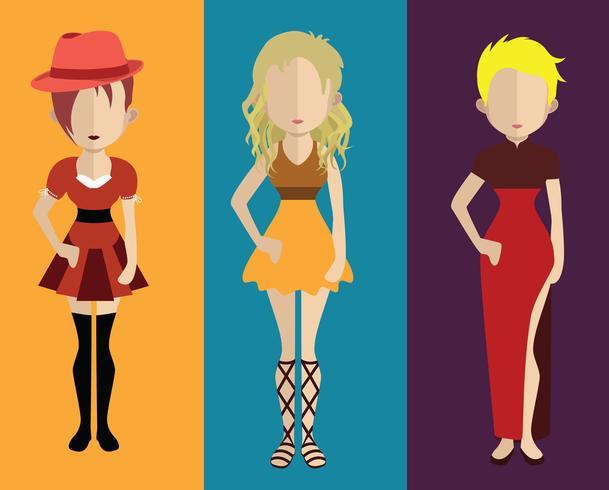 Avatar de personas con variaciones de cuerpo y torso.