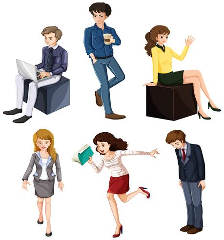 Businessminded individuals vector