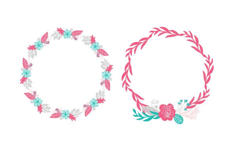 duas flores buquê de grinalda floral