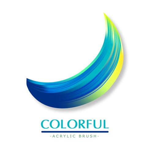 Colorful acrylic brush