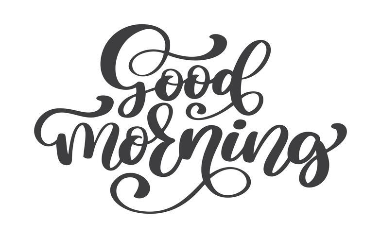 Hand gezeichneter Text des guten Morgens