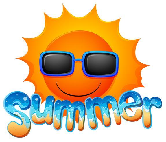 Summer sunglasses vector