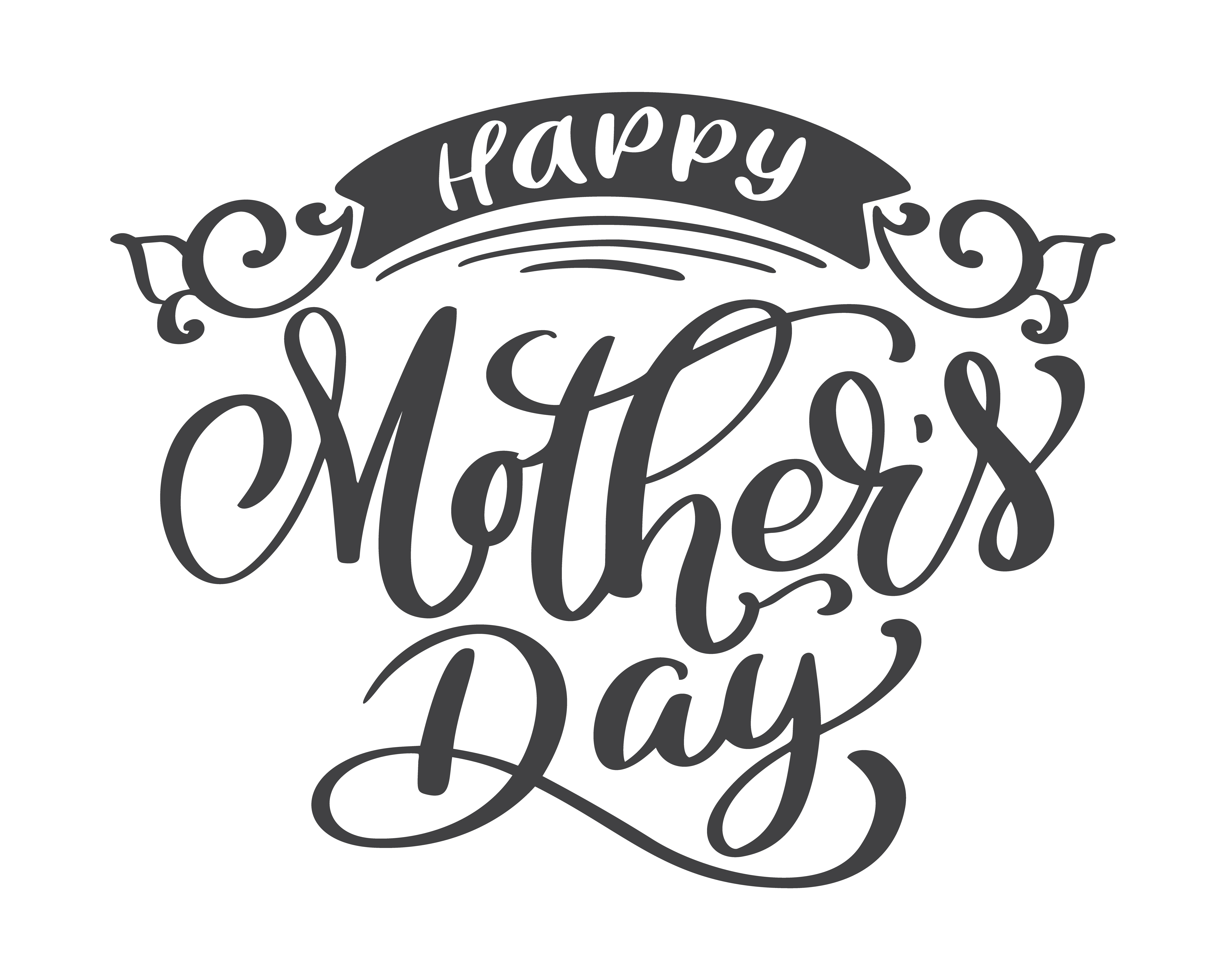 happy mothers day hand drawn lettering quotes vector t shirt or