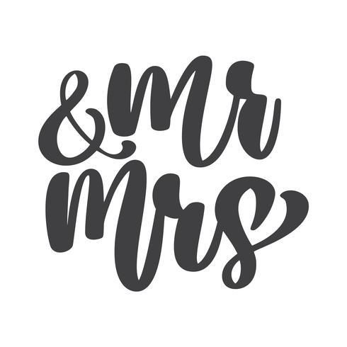 mots de mariage M. et Mme vecteur